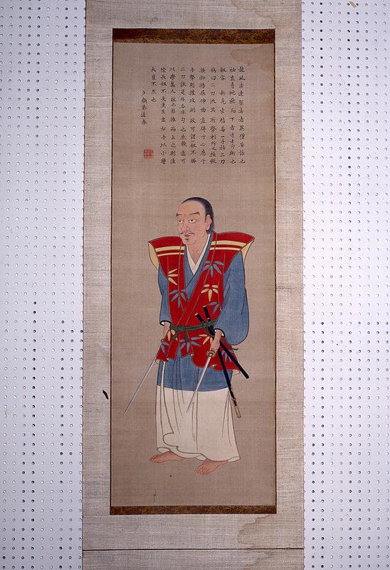 宮本武蔵像(林羅山賛)[明石城]