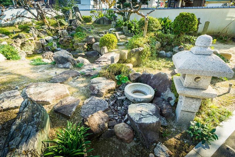 善楽寺の庭園[明石城]