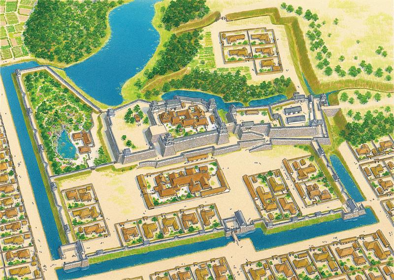 寛永期明石城復元図