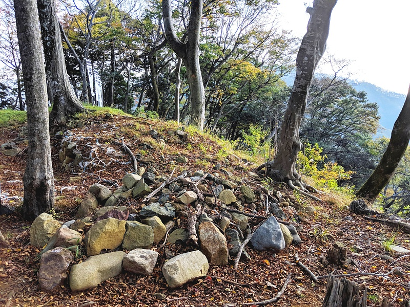 本丸虎口南側の石垣[国吉城]