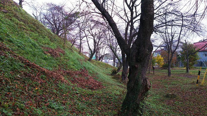 坂下門跡の切岸