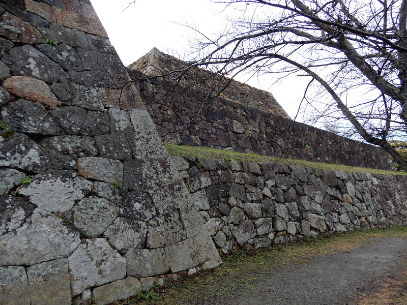 本丸付近の石垣①