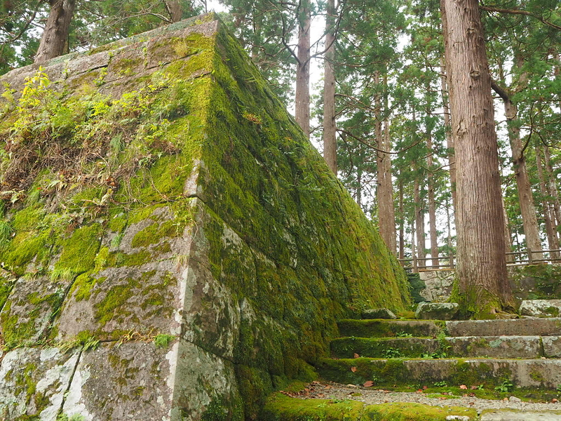 旧本丸跡の石垣