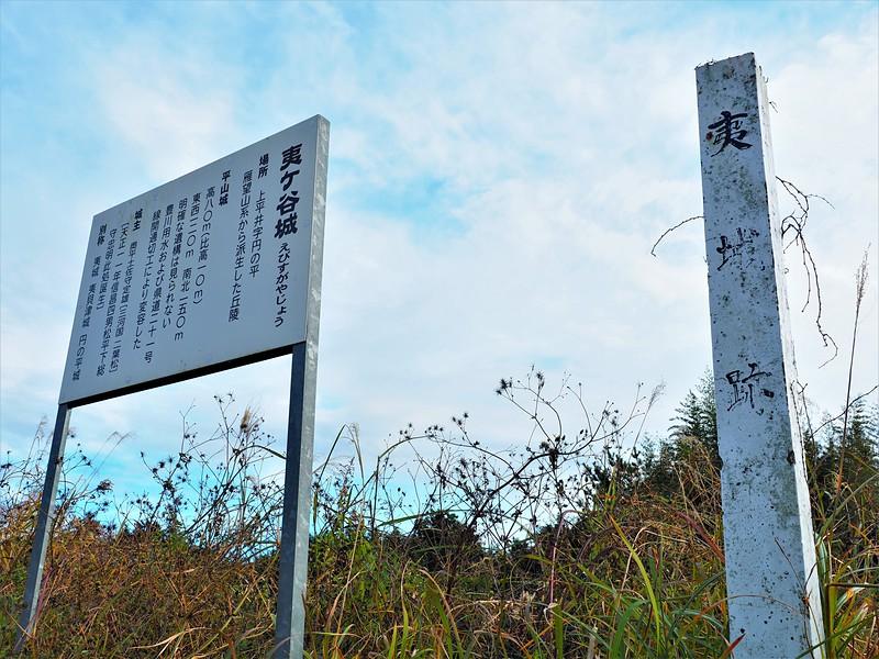 城址標柱と案内板(34.913529,137.499799)
