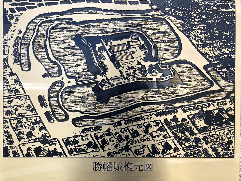 勝幡城復元図[勝幡城]