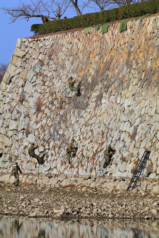 三の丸南西外側石垣でのクリーン作戦
