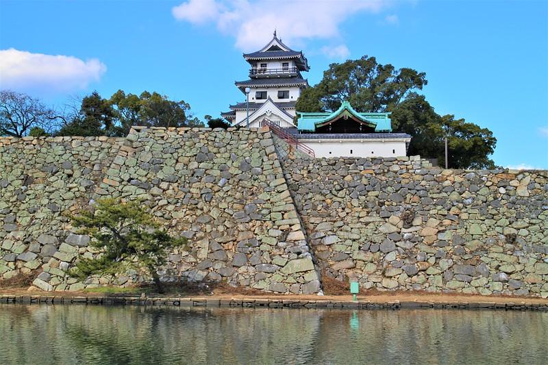 模擬天守・月見櫓跡(南側)