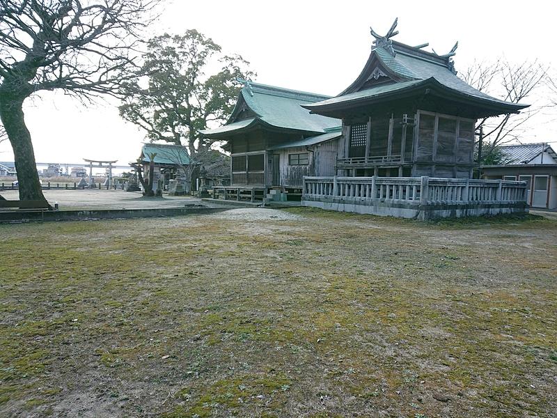 八幡神社境内(二の丸跡)