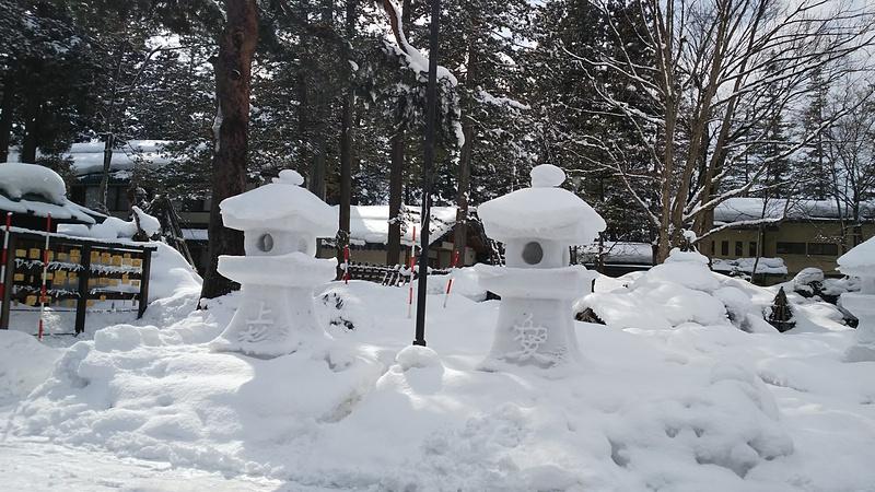 2/17日の雪灯篭