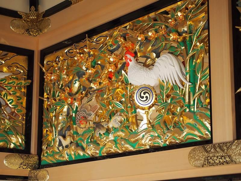 上洛殿の欄間彫刻