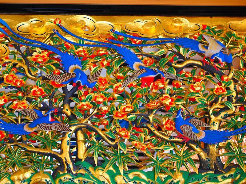 上洛殿の欄間彫刻(廊下)