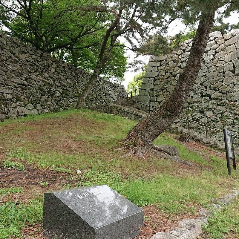 蜜柑丸跡と東御門跡石垣