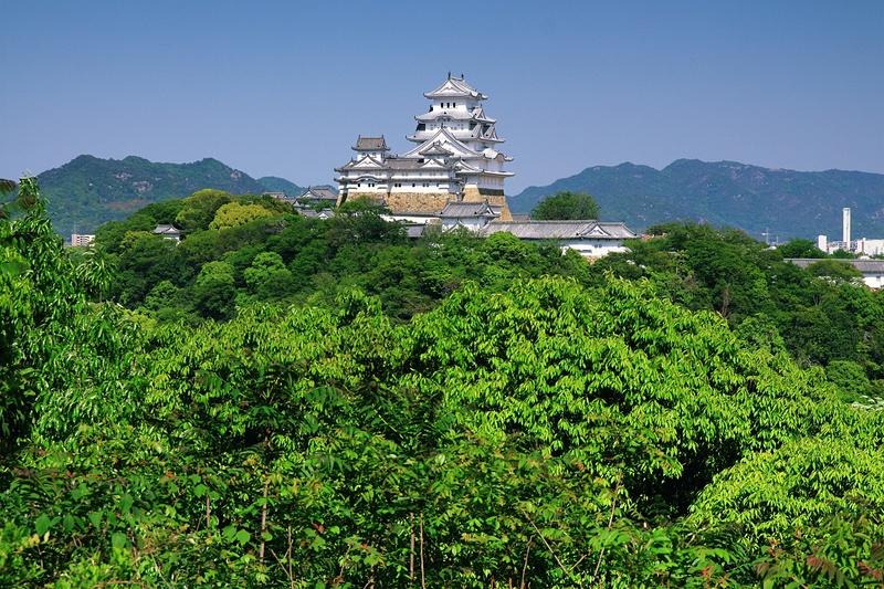 新緑の景福寺山からの姫路城