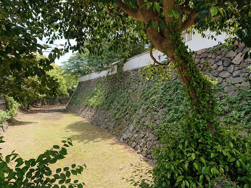 北側石垣と空堀