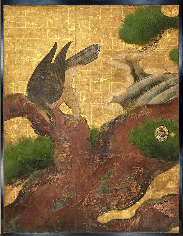 重要文化財・二の丸御殿障壁画「松鷹図」