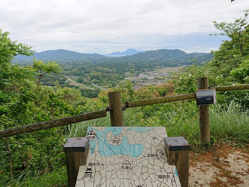 大津山山頂(本丸)からの眺望