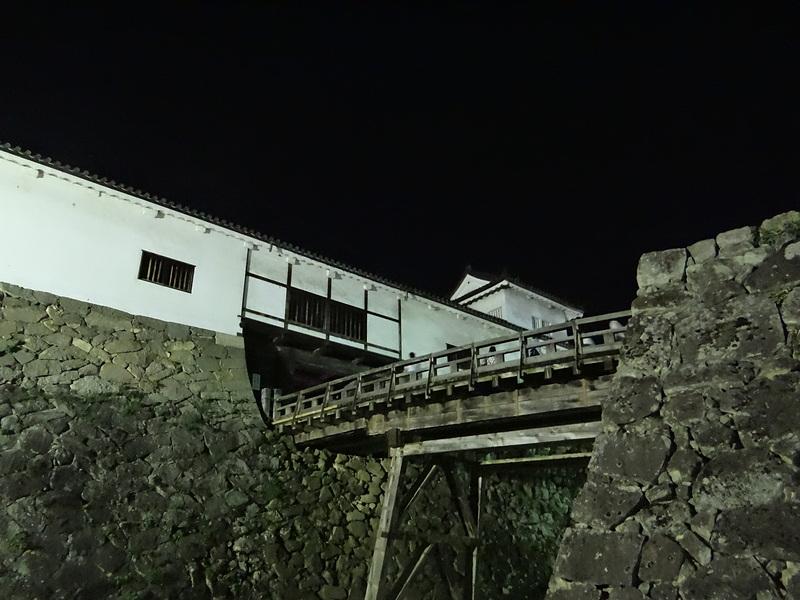 夜の天秤櫓