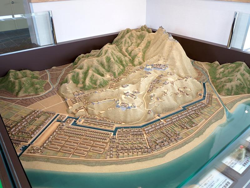 富田城ジオラマ模型