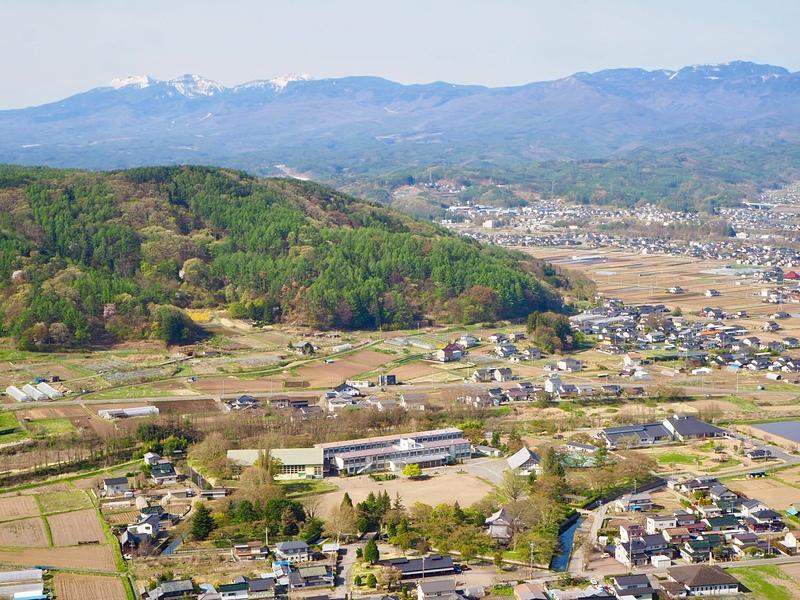 城址と八ヶ岳連峰