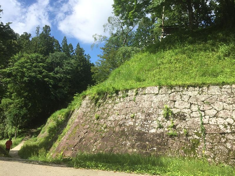 出丸から見上げる本丸の高石垣