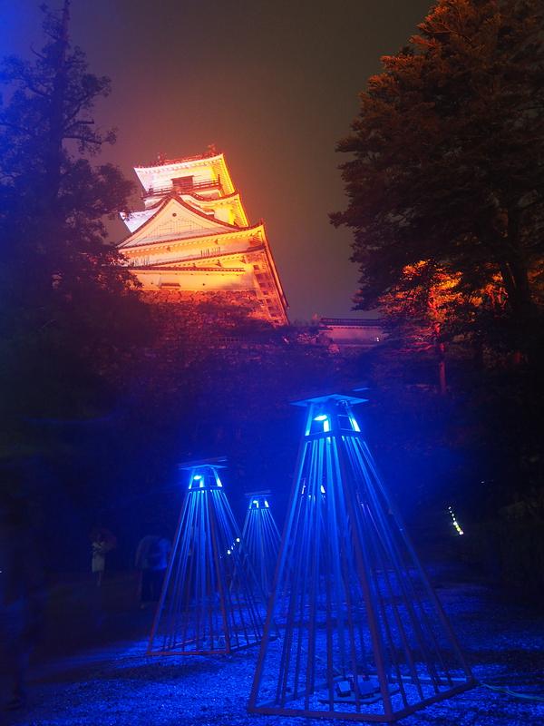 小雨天守、高知城 夜のお城まつり