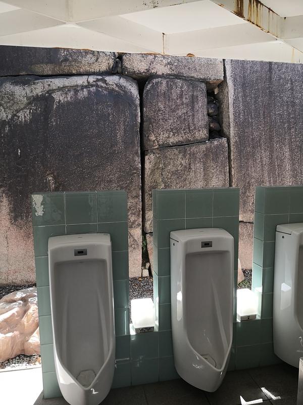 大阪城 蛸石の裏側の石垣