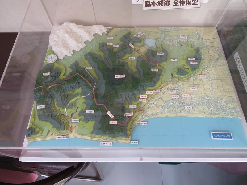 脇本城跡 全体模型