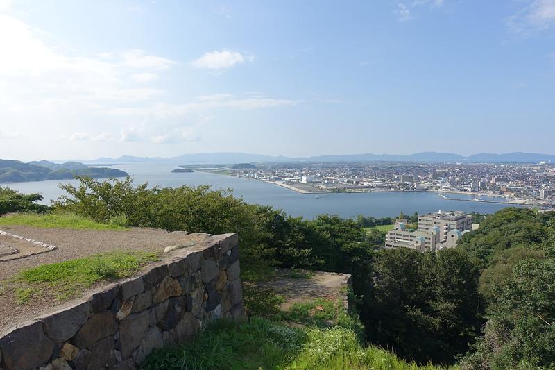 天守台から北西(境港方面)の眺望