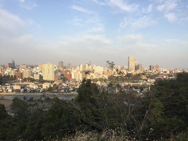 仙台城跡からの仙台の街