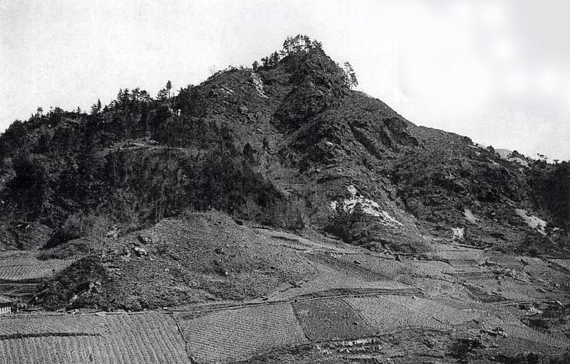 明治時代の神之峯城跡