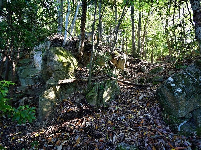 門跡らしき巨石群