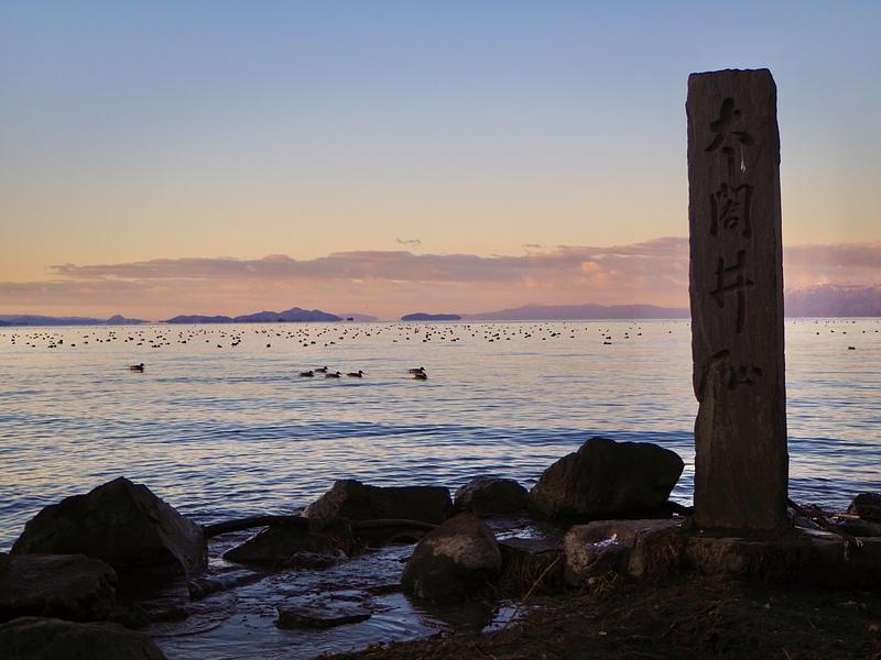 早朝の太閤井戸