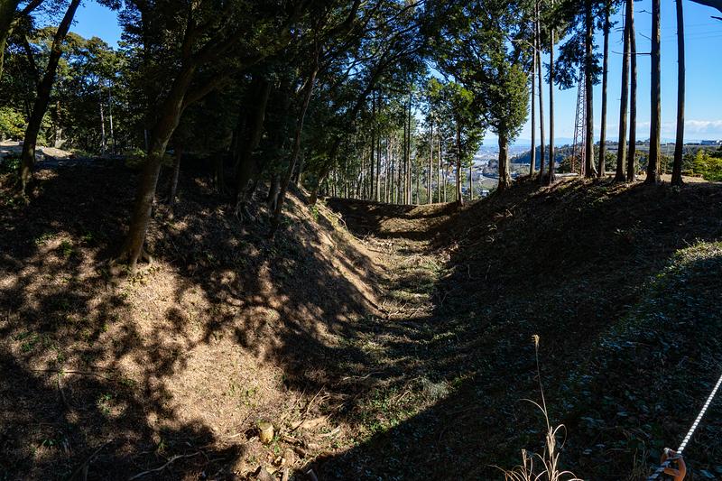 二の曲輪東馬出と東内馬出の間の外堀