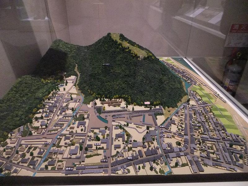 龍野城の写真:龍野城復元模型 |...
