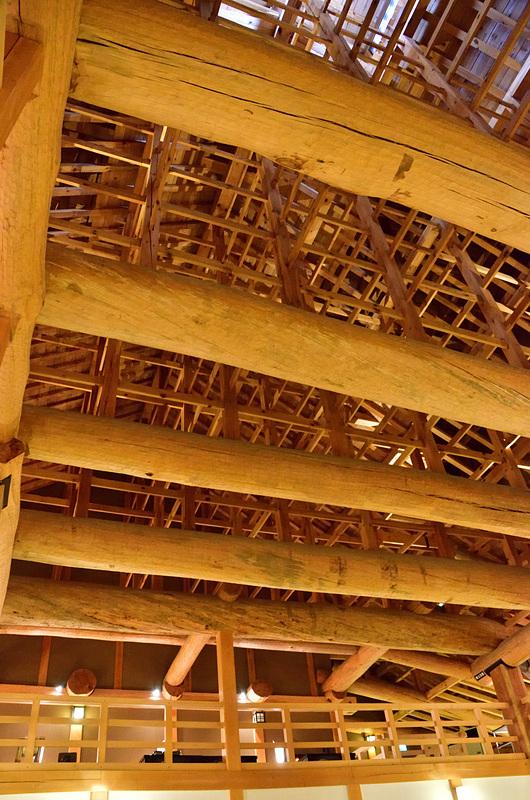 本丸御殿 台所 屋根裏の復元構造