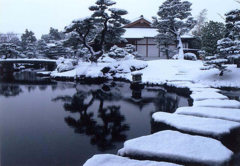 好古園の雪景色