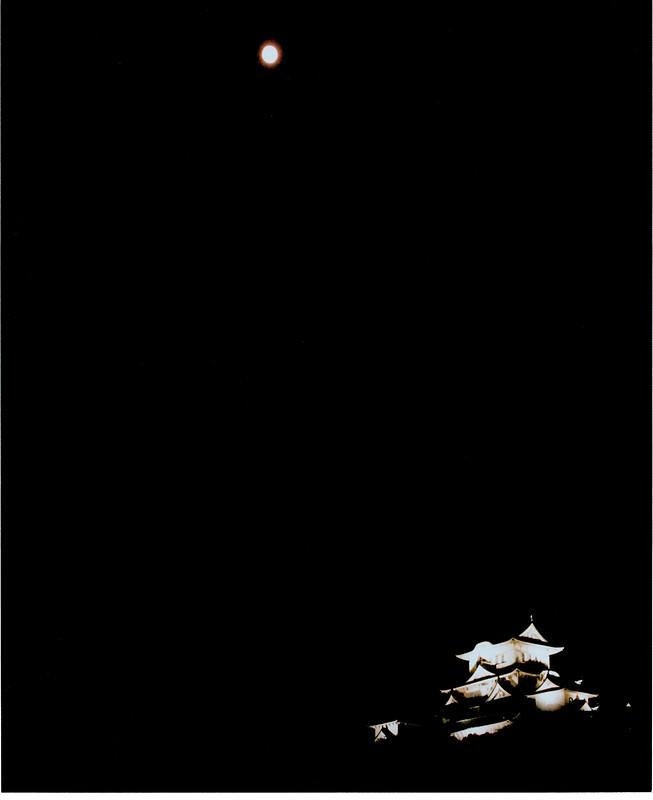 仲秋の名月と姫路城