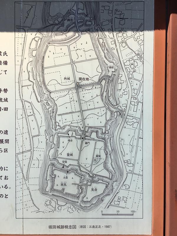 坂田城の写真:坂田城縄張概念図...