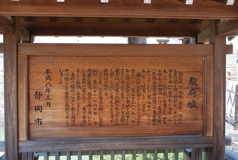 駿府城の案内板