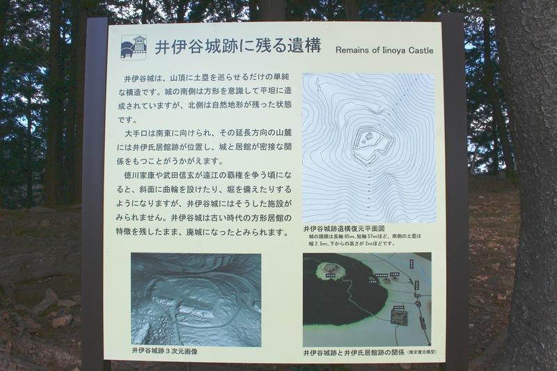 井伊谷城 説明板