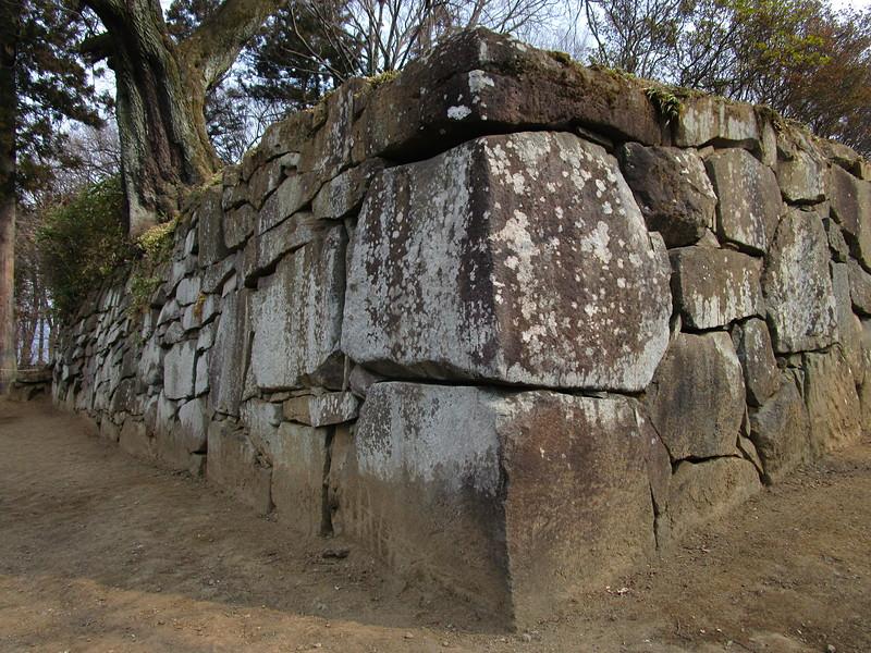 裏手の石垣