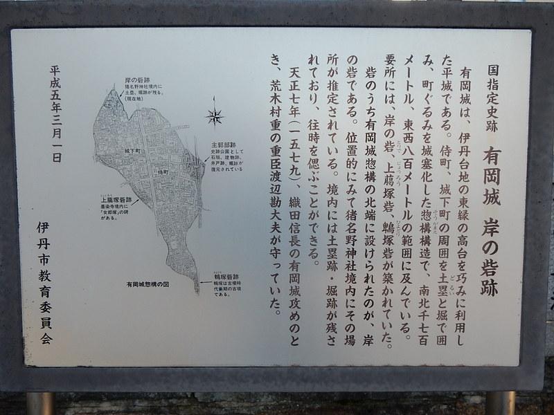 岸の砦跡案内板@猪名野神社[伊丹城]