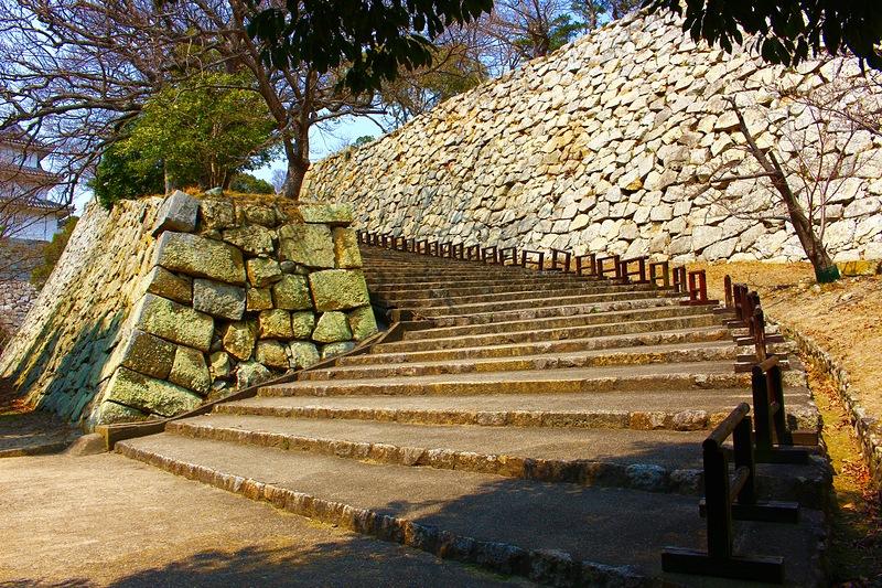 明石城 二の丸への道