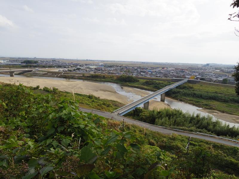 城跡からの展望 鈴鹿川