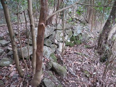 天瀬侍屋敷・入口付近の石垣