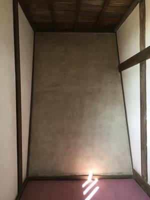 石垣を覆う土壁