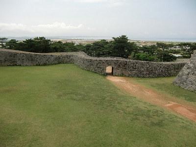 城壁からの一郭風景