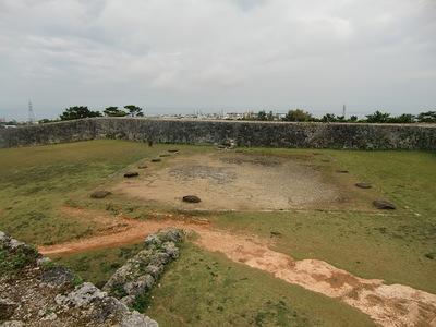 城壁の上から見る一郭