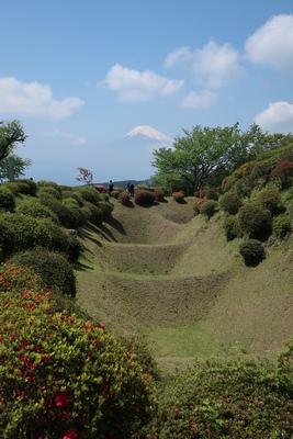畝堀と富士