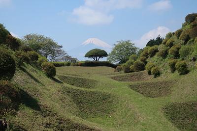 障子堀と富士